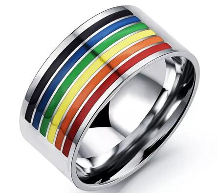 Rainbow pride ring