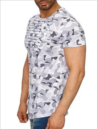 Ce & Ce t-shirt hvid camouflage