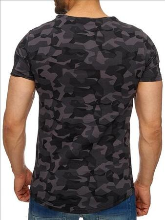 Ce & Ce t-shirt sort camouflage