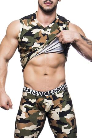 Andrew Christian Camouflage tank top