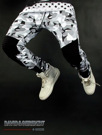 David & Gerenzo sweatpants i hvid camouflage