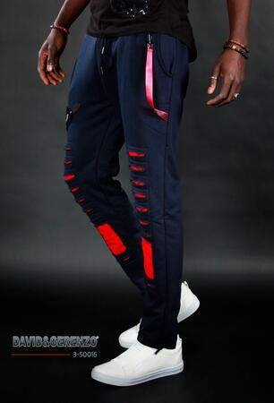 David & Gerenzo designer sweatpants navy