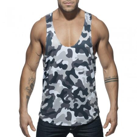 Addicted AD584 Combi Camo Tank Top