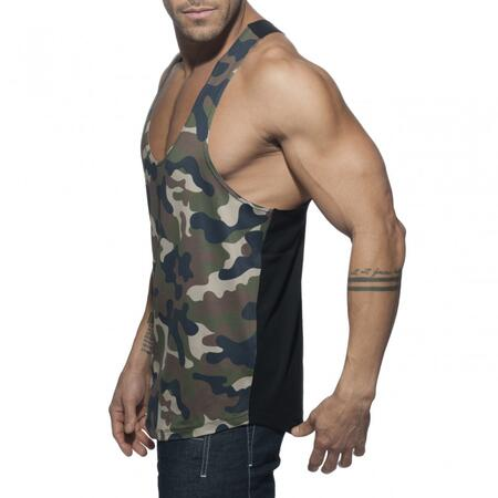 Addicted AD584 Combi Camo Tank Top army