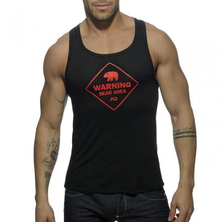 AD572 Addicted Bear Area tank top