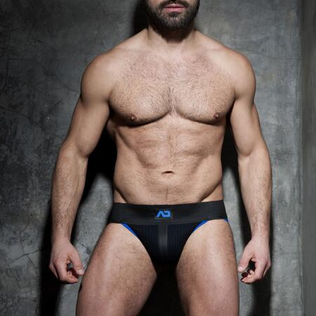 ADF84 Addicted RIB fetish jockstrap blå