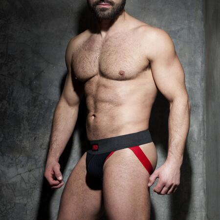 ADF84 Addicted RIB fetish jockstrap rød