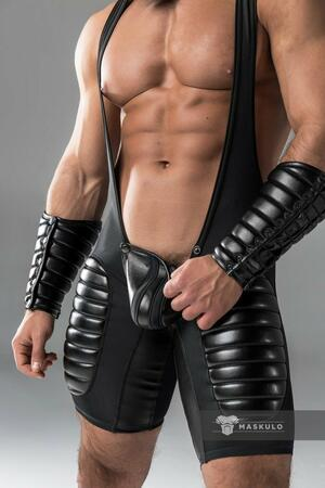 Armored. Men's Fetish Wrestling Singlet