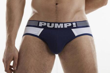 PUMP! Navy Ribbed Brief
