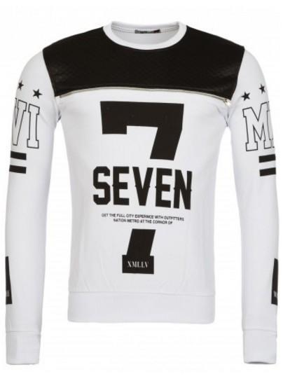 "Re Rock sweat shirt ""7"" hvid"