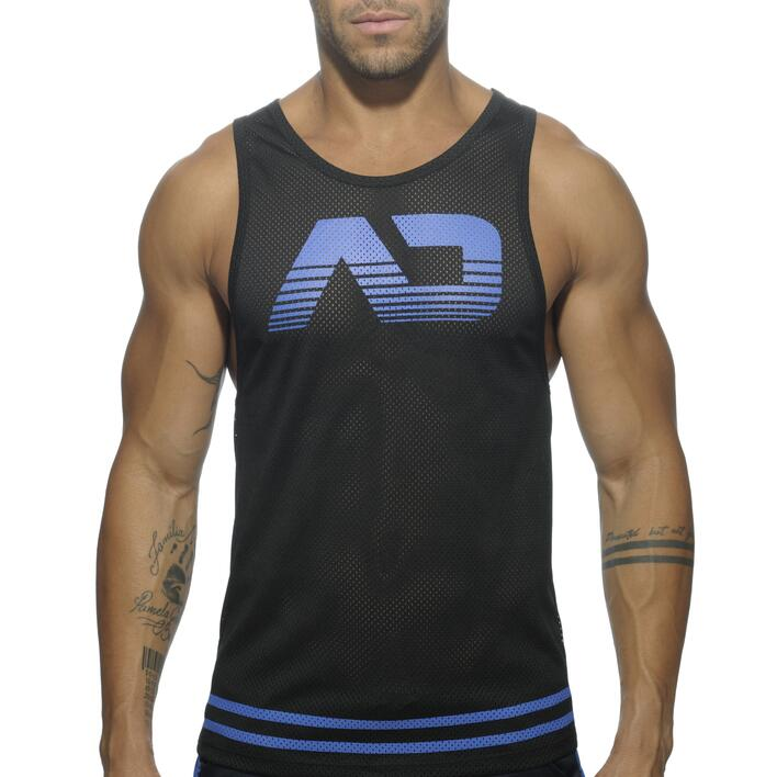 AD492 ADDICTED FETISH MESH TANK TOP