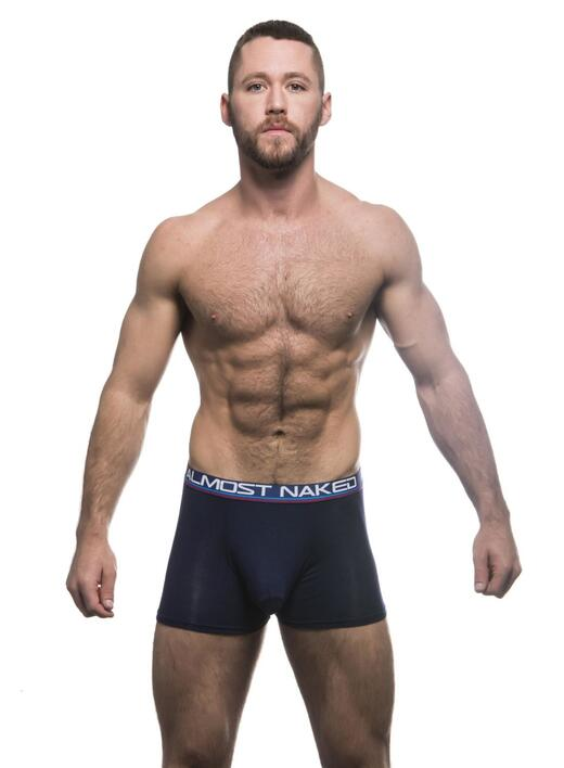 Almost Naked Tagless Premium Boxer NAVY