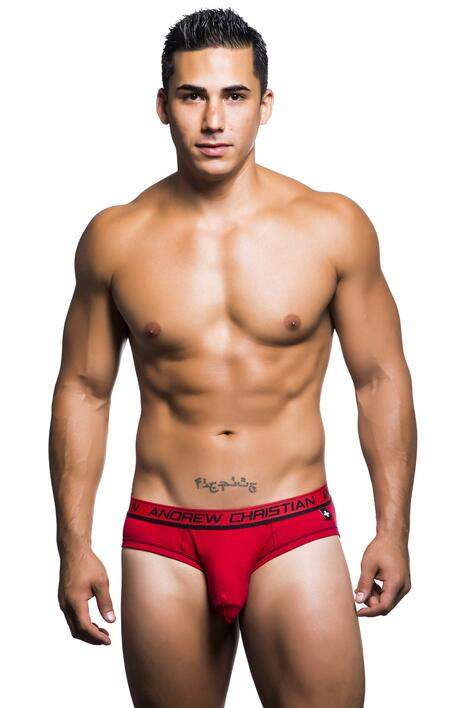 AC Almost Naked Cotton Brief rød