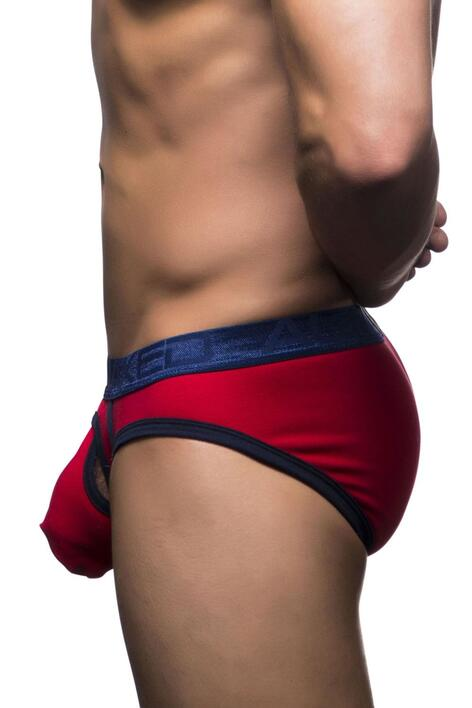Andrew Christian Almost Naked Cotton Curve Brief rød