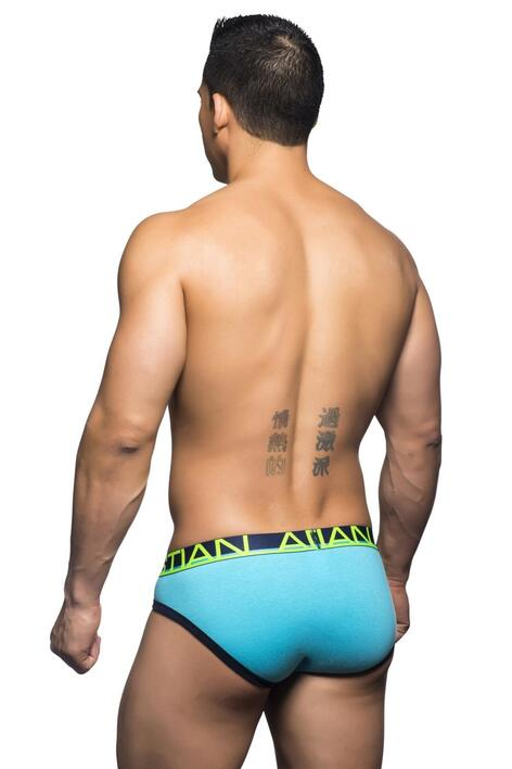 Andrew Christian fly tagless brief underbukser med gylp turkis