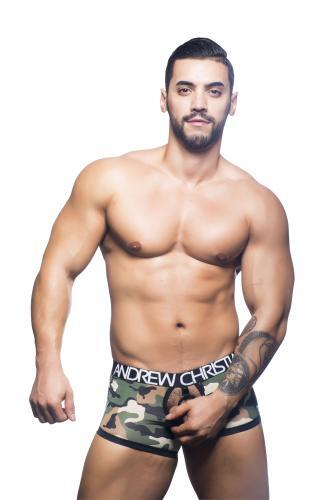 Andrew Christian 90654, Camouflage C-Ring Boxer, Camouflage Print