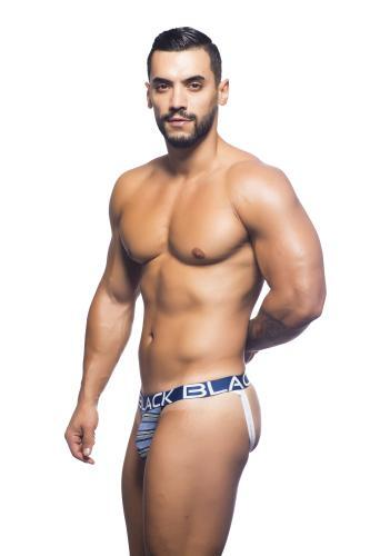 Andrew Christian Black Collection stripe jockstrap