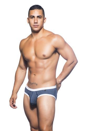 Andrew Christian Basix Tagless Stripe Brief sort
