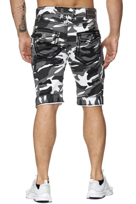 Camouflage jeans shorts