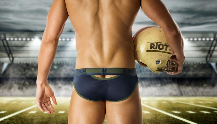 Aussiebum riott brief blå