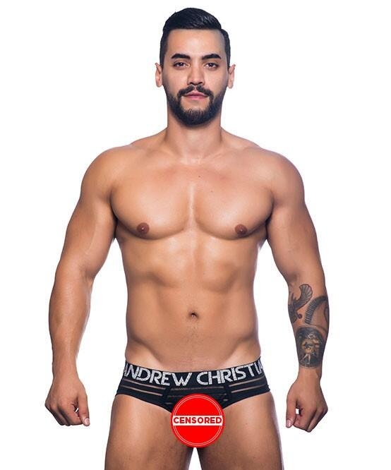 AC Sheer Stripe Brief w/ Almost Naked