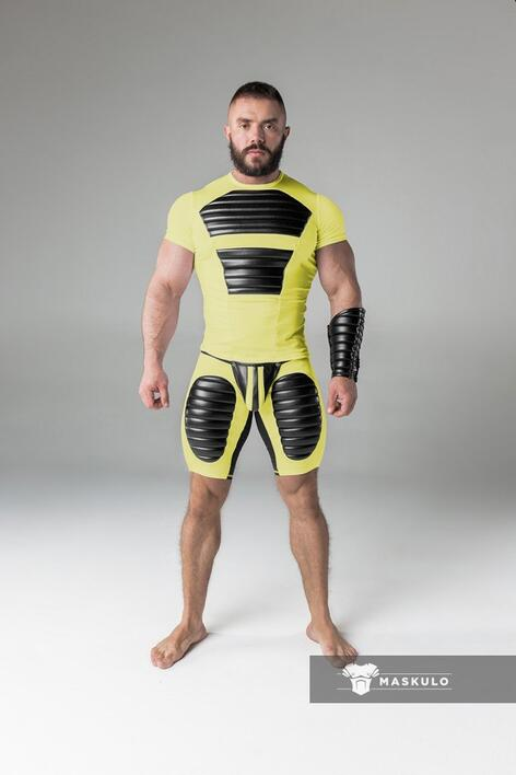 Armored. Men's Fetish Shorts. Codpiece. Thigh pads