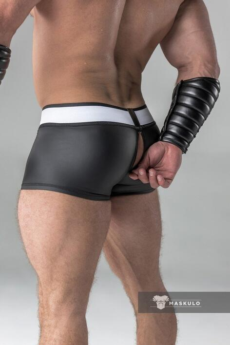 Maskulo armored rubber look trunks sort