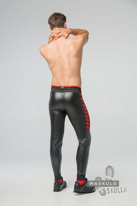 Maskulo Skulla. Men's Fetish Leatherette Pants