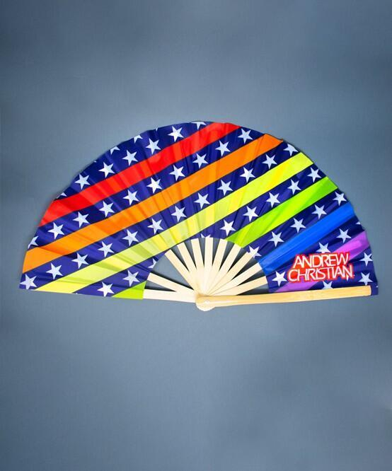"Pride Star Large Clap Fan (25 "")"
