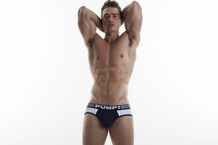 Navy Ribbed Brief
