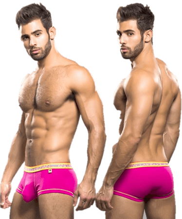 Andrew Christian Glow Pop Boxer w/ almost naked rosa