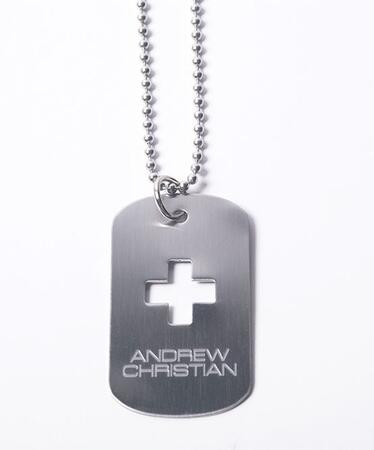 ANDREW CHRISTIAN SIGNATURE DOG TAG
