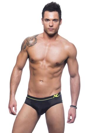 Andrew Christian  sports and workout brief w/show it